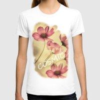 nan lawson T-shirts featuring Dreamy Cosmea by Joke Vermeer