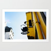 Tea detail at The City of Brussels Art Print
