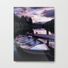 Summer's Evening On Loch Ard Metal Print