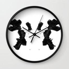 Rorschach Inkblot 02 Wall Clock