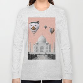 Hot air balloons with Taj Mahal Long Sleeve T-shirt