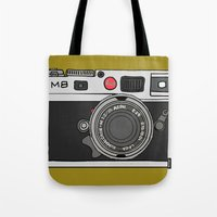 camera Tote Bags featuring Camera by Illustrated by Jenny
