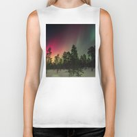 northern lights Biker Tanks featuring Northern Lights  by Limitless Design