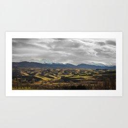 Central Otago in Winter Art Print
