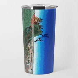 Traditional Japanese Wood Block Print Travel Mug
