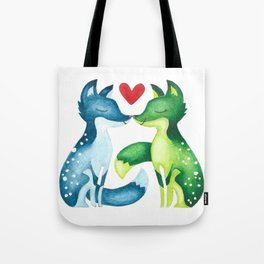Facebook Foxes Tote Bag