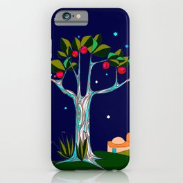 A Traditional Pomegranate Tree in Israel at Nigh iPhone Case