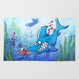 Sharks are Furious, Stop Finning! Rug