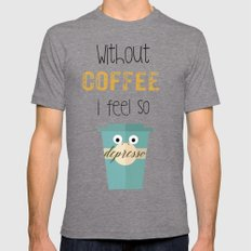 DEPRESSO Tri-Grey SMALL Mens Fitted Tee