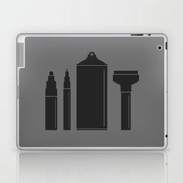 Art Supplies Grey Laptop & iPad Skin