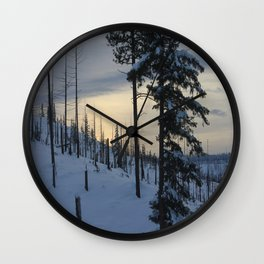 Deeper Drifts Wall Clock