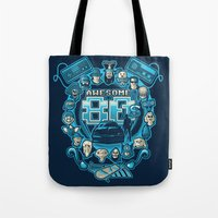 80s Tote Bags featuring AWESOME 80s by Letter_q