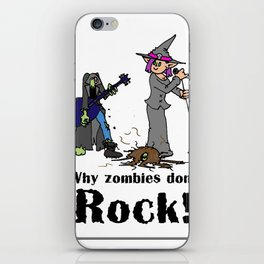Zombies Don't Rock iPhone Skin