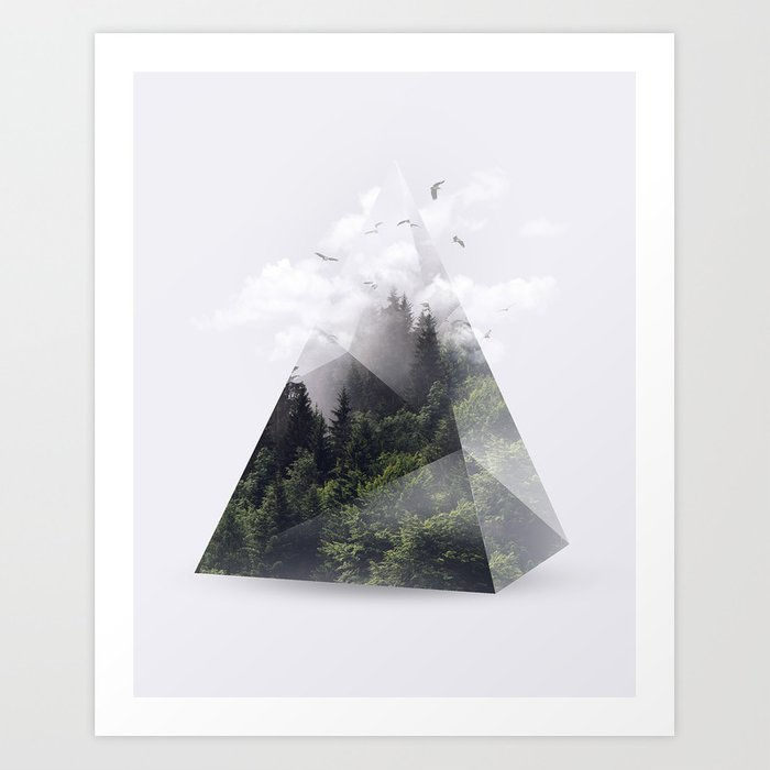 Discover the motif FOREST TRIANGLE by Robert Farkas as a print at TOPPOSTER