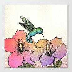 Hummingbird and Hibiscus Canvas Print