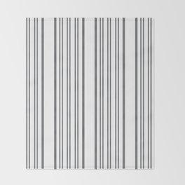 Pinstripe Grey Throw Blanket
