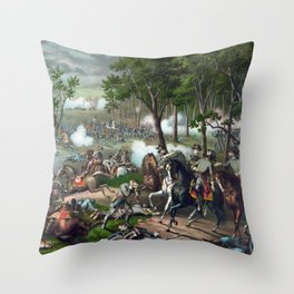 Battle of Chancellorsville - Death Of Stonewall Throw Pillow