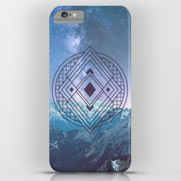 Sacred Geometry Universe 7 iPhone Case