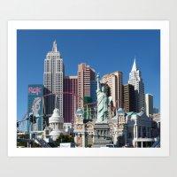 las vegas Art Prints featuring Las Vegas by Lynn Bolt