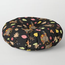 Thanksgiving Turkey pattern Floor Pillow