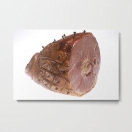 Glazed Ham Metal Print
