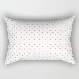 Christmas Gold Polka Dots on White Rectangular Pillow