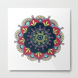 Indian Mandala Metal Print