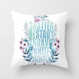 shatter me v1 Throw Pillow