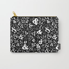 Ampersands - Black & White Carry-All Pouch
