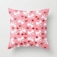 Lace gift wrap pink Throw Pillow