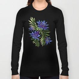 Aechmea Fasciata - Blue/Green Long Sleeve T-shirt