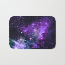 Purple Teal Green Carina Nebula Bath Mat
