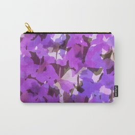 Red Violet Field Flowers Carry-All Pouch