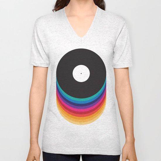 Happy Music Unisex V-Neck