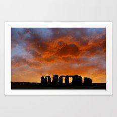 Stonehenge Sunrise, Wiltshire Art Print