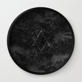 Men of Letters Leather Dark Wall Clock