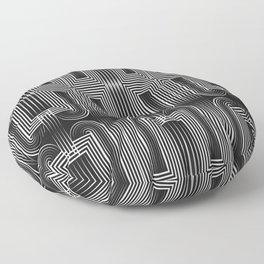 Art Deco 32 . Graffiti black and white Floor Pillow
