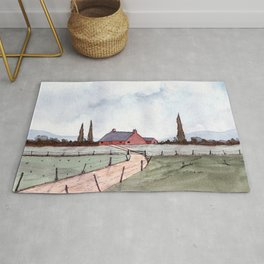 Country Landscape Rug