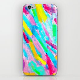 Uniqueness Blooms colorful abstract painting pink modern iPhone Skin