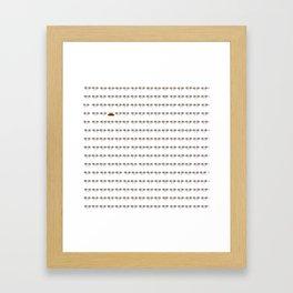 going down Framed Art Print