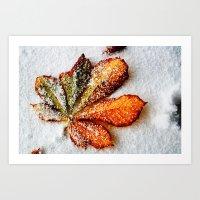 End of autumn Art Print