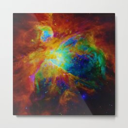 Orion NEBula  : Colorful Galaxy Metal Print