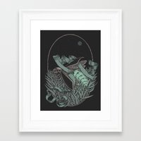 firefly Framed Art Prints featuring Firefly  by BEADLER Design and Illustration