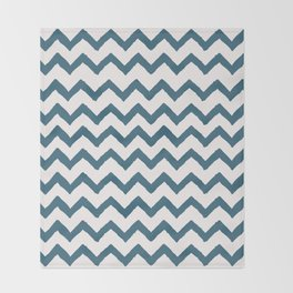 Chevron Teal Throw Blanket
