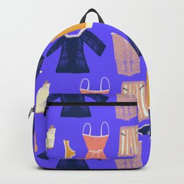 Colorful hanging clothes seamless pattern. Creative and modern graphic design. Vibrant colors. Backpack