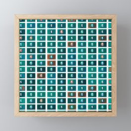 Dollar pattern 7 Framed Mini Art Print