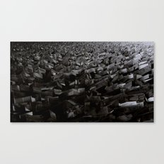 Black Steel Canvas Print