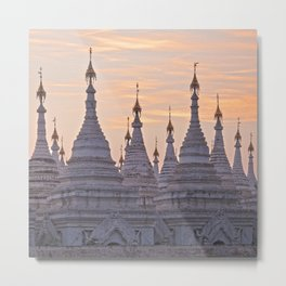 Sandamani Pagoda, Mandalay, Myanmar Metal Print