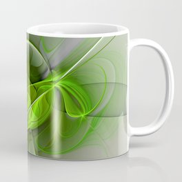 Abstract Green Fractal Art Coffee Mug