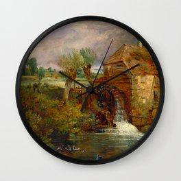 """John Constable """"Parham Mill, Gillingham"""" Wall Clock"""
